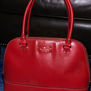 Kate Spade Red Leather Satchel with Handles